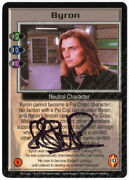 Babylon 5 Ccg Psi-corps Embossed Card Byron Robin Atkin Downes Autograph Black