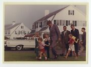 Kennedy Family - John F. Kennedy - With Kennedy Family Children Vintage Photo