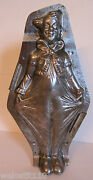 Antique Vintage Clown Holding Pants Out Chocolate Mold. Letang. 10 1/2 Rare