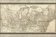 Poster, Many Sizes Map Of Continental Railway Michigan Ohio 1873