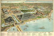Poster Many Sizes Map Worlds Columbian Exposition Fair Chicago 1893