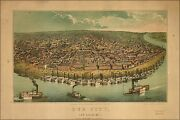 Poster, Many Sizes Map Of Our City St. Louis Missouri 1859