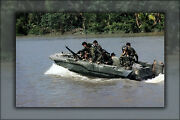 Poster Many Sizes Us Navy Seal Team One Move Down The Bassac River In A Seal T