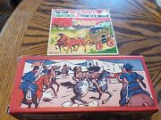 Davey Crockett Antique Friction Stage Coach Tin Toy Lot With Boxs.