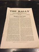 Rare Early Girl Scout 1918 9th Issue Of The Rally Magazine. Yes. Number 9