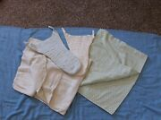 2 Vintage Baby Blankets And 2 Vintage Cloth Handmade Diapers - Different Design