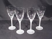 Mikasa Alexandra Frosted Water Goblets Set Of 4