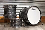 Ludwig Classic Maple 3pc 22/13/16 Drum Set Vintage Black Oyster
