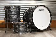 Ludwig Classic Maple 3pc 24/13/16 Drum Set Vintage Black Oyster
