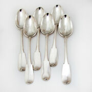 Swiss Table Spoons 6 Sterling Silver Ducre 1780 Geneva