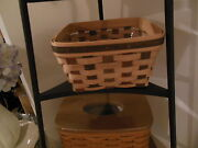 Longaberger American Craft Traditions Large Berry Basket With Protector
