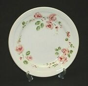 Gibson Everyday China 7 Salad Plate Pink Rose Flowers Water Color