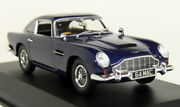 Norev 1/43 Scale - Aston Martin Db5 Coupe 1964 Night Blue Diecast Model Car