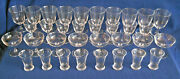 Steuben Crystal Glasses Service For 8 - 10 Water, 8 Champagne, 8 Wine, 8 Cordial