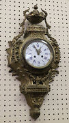 Best Quality French Bronze Cartel Wall Mounted Clock Beautiful