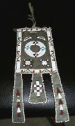 Vintage Antique Old Pawn 1890s Apache Indian 10.5 Hand Beaded Bag Leather Pouch