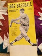 1962 Baseball Handbook And Schedules World Series Special Features Vintage