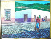 Mexican Street Scene Oil Painting By Rod Rogers