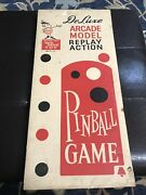 """Vintage Marx Toys Another Great """"magic Marcie"""" Arcade Model Pinball Machine"""