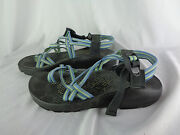 Chaco Baby Blue Yellow And Black Sport Trail Hiking Sandals Vibram Womenand039s Sz 9