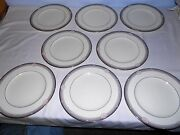 8 Noritake China Stanford Court 10 5/8 Dinner Plates Excellent Discontinued