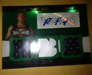07 Topps Triple Threads Randy Foye Auto 2 Color Jersey Patch 14/18 Rapters