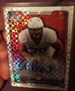 2015 Bowman Chrome Andrus Peat Rookie On Card Xfractor Refractor Auto 10/10 1/1