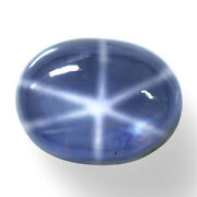 Natural Top Six Rays Star Sapphire Oval Cab 11.09 Cts Certified Ceylon Gemstone