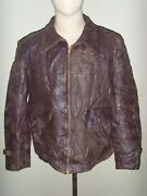 Scarce Early 50and039s Hercules Sport Horsehide Front Quarter Motorcycle Jacket