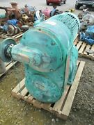 Reliance Electric Motor With Gear Drive Reeves Brand 325110b Used