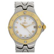 Ebel Women's Sportwave E6187631 18kt Yellow Gold And Stainless Steel Watch