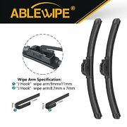 Ablewipe Fit For Chevrolet Spark 2018-2016 Beam Windshield Wiper Blades 24+14