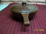 Vintage Marcrest Daisy Dot Brown Glaze Stoneware Casserole Dish With Lid Preown