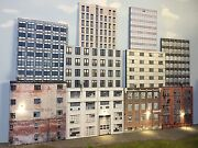 """O Scale Scratch Built Up -""""10 City Building Flats 3d Collage"""" Backdrop, Mth"""