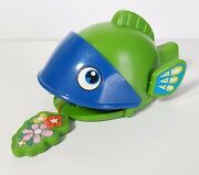 Rare Vintage Tps Japan Pull Back Green Fish Toy