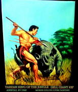 Tarzan King Of The Jungle Dell Giant 37 1960 Cover Oil Painting 16 X 20