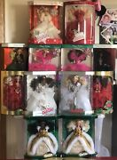 Happy Holidays Barbie Collecton 1988-97 Black And White