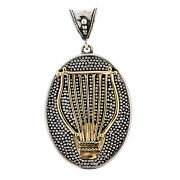 Savati Ancient Greek Lyre - Solid Gold And Sterling Silver Pendant