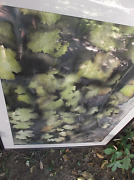 Autumn Leaves Watercolor Painting Framed Sweden Olle Dahlberg Large 42 X 32