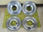 49 50 Ford Accessory Trim Beauty Rings 15 Set 4 Wheel Hubcap Surround 1949 1950