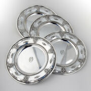Rose Point Bread And Butter Plates Set Of 4 Sterling Silver Wallace 1934