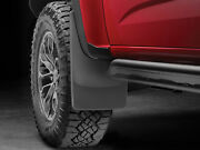 Weathertech No-drill Mudflaps For Chevy Colorado Zr2 2017-2019 Front Pair