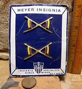 Unknown Officers Collar Insignia Made By Meyer On Original Card.