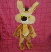 Vintage 24k Wile E. Coyote 17in Stuffed Soft Plush Mighty Star Warner Bros 1993