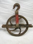Early Cast Iron Well Pulley Old Farm Wheel Barn Steampunk Steam Punk Industrial