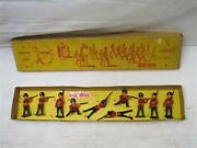 Vintage Crescent Lead Toy British Soldiers W/box Red Coats Infantry Army Redcoat