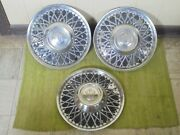Vintage Lyon Accessory Hubcaps 15 Set Of 2 Wheel Covers 1950and039s 1960and039s Hot Rod