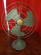 New Metal Lightweight Blue Fan Display Decor Retro Old Vintage Style Stand