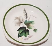 Vintage Palissy Pottery Shadow Rose Pattern Pin Dish C1958 Made In England