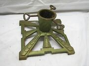 Vintage Art Deco Cast Iron Christmas Feather Tree Stand Holiday Aluminum B